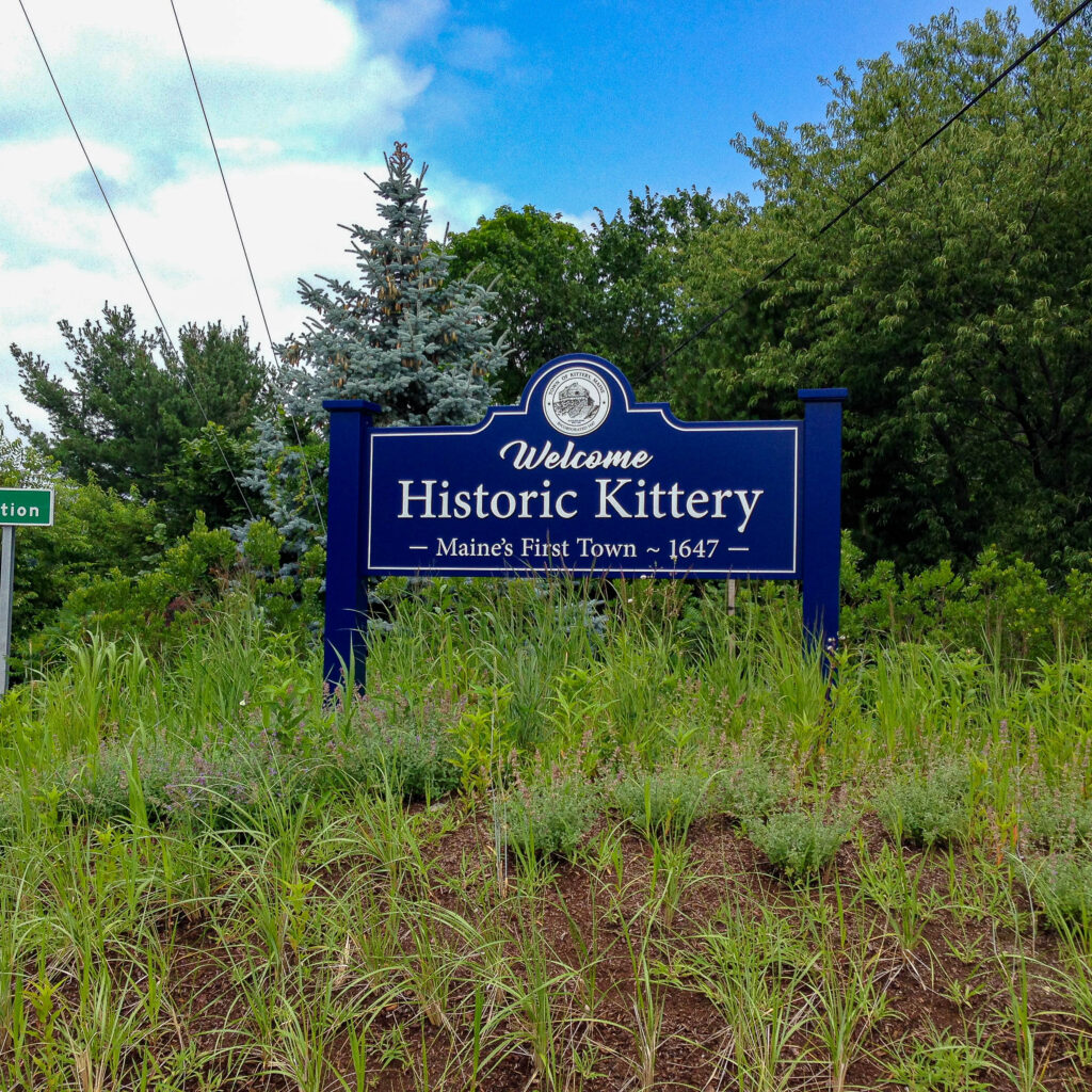 Kittery Welcome sign